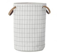 Ferm Living Laundry basket Grid, black / white, 40x60cm