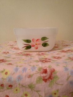 """Vintage Fire King """"Gay Fad"""" Pink Square Casserole"""