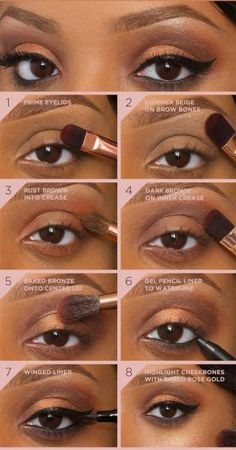 maquiagens para negras passo a passo - Pesquisa Google