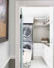 5 Small Laundry Room Storage Ideas Shelves Washer And Dryer 57 Small Laundry Rooms, Laundry Room Organization, Laundry Storage, Laundry Room Design, Small Storage, Closet Storage, Storage Ideas, Small Shelves, Storage Shelves