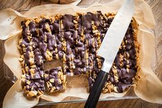 Good Morning Sunshine Bars (8 ingredients: plain crunchy cereal (like Chex), salted peanuts, brown sugar, corn syrup, smooth peanut butter, vanilla extract, salt, milk/dark chocolate)