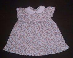 Ralph Lauren Baby Girl Dress 6M Blue Pink Floral Cotton Jersey Ruffles  #RalphLauren #Dressy