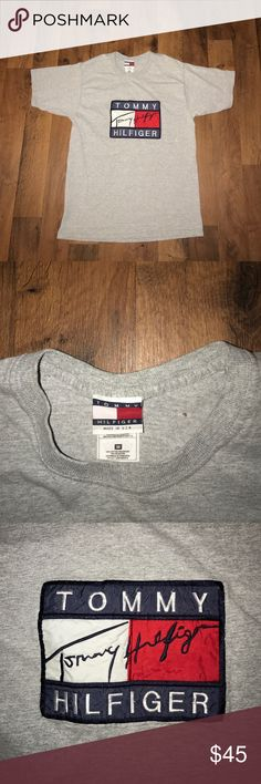 Vintage Medium Tommy Hilfiger Big Logo Shirt Small pinhole on the back Tommy Hilfiger Shirts Tees - Short Sleeve