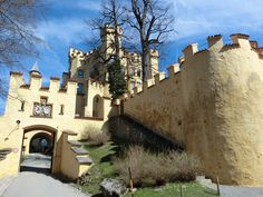 The Hohenschwangau Castle in Hohenschwangau, Germany.