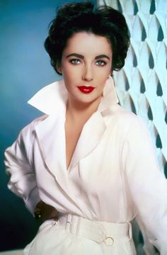 "Actress Elizabeth Taylor in ""Elephant Walk"" (1954)."