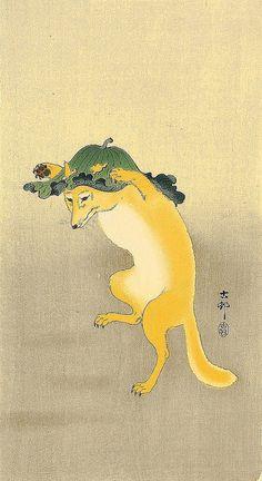 Koson Ohara 1877-1945 - Dancing Fox. S)