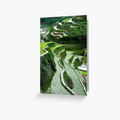 Canvas Art Prints, Canvas Wall Art, Framed Prints, Volcano World, Rice Terraces, Greeting Cards, Artist, Artwork, Work Of Art
