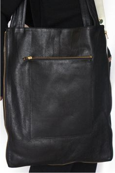 leather bag w zipper