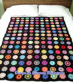 Love Crochet: Handmade Crochet Flower Blanket / Afghan / Throw