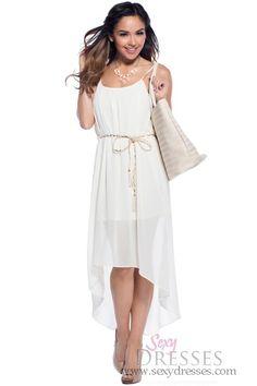 Leona Nude Flowy Tassle-Belt Maxi Dress
