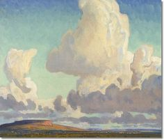 Maynard Dixon - Big Clouds Over The Mesa 1925