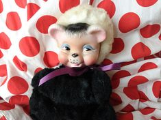 Your place to buy and sell all things handmade Vintage Wear, Vintage Toys, Vintage Oddities, Creepy Dolls, Stuffed Toy, Panda, Plush, Teddy Bear, Black And White