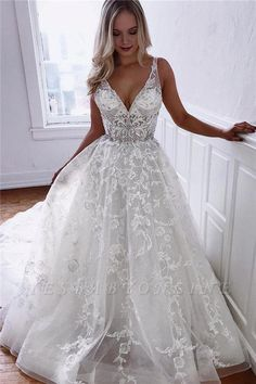 custom dresses A Line V Neck Lace Wedding Dresses sold by custom Bridal gowns. Shop more products from custom Bridal gowns on Storenvy, the home of independent small businesses all over the world. Elegant Wedding Dress, Modest Wedding Dresses, Bridal Dresses, Wedding Gowns, Lace Wedding, Elegant Dresses, Sexy Dresses, Mermaid Wedding, Summer Dresses