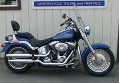 Harley-Davidson Fat Boy. MotoQuest uses the HD Fat Boy on its Alaska Harley-Davidson Tours. The Fat Boy is a great bike for the single rider, who likes to ride with flair. Only available as part of a tour. Click here to know more: https://www.motoquest.com/our-bikes/harley-davidson-fat-boy-motorcycle-2