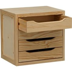 Wooden 4 Drawer Chest - Pine. at Homebase - £29.99. Size H37.5, W39, D30cm.