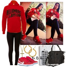 A fashion look from March 2013 featuring Forever 21 leggings, NIKE shoes and Deena & Ozzy handbags. Browse and shop related looks.