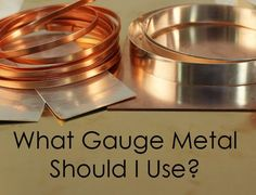 "One of the most frequently asked questions I get as a jewelry instructor is ""What gauge metal do I use for this piece?""  I made up this chart a few years ago, and though it depends on many other fa..."