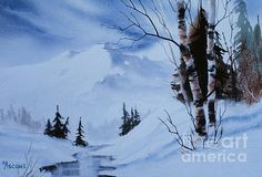 Gentle Mountains painted by Teresa Ascone.  Featured in Fine Arts America!
