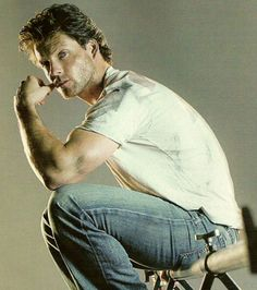 """""""May was not looking forward to running away from someone who looked as if he spent all his time wrestling bullocks to the ground. Hot Actors, Actors & Actresses, Jamie Bamber, Hey Good Lookin, Perfect World, Pretty Men, Celebs, Celebrities, Celebrity Crush"""