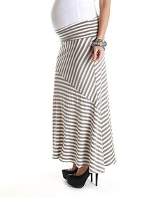Another great find on PinkBlush Maternity Mocha White Stripe Maternity Maxi Skirt by PinkBlush Maternity Cheap Maternity Clothes, Maternity Maxi Skirts, Womens Maxi Skirts, Baby Taylor, Pregnancy Months, Striped Maxi, Pink Blush Maternity, Blush Pink, Mocha