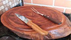 tabua carne madeira rustica tora grande p churrasco 48 a 50