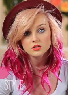 Perrie Edwards. really loved the pink hair! might do that next but with a different color