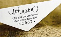 "Custom Return Address Stamp $22.99 2.4"" BLACK self-inking Gagnon [fill in address] (7.5)"