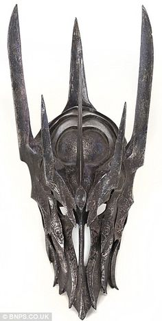 Evil's mask: Jackson famously pained over the appearance of Sauron in films before settling on the above design for his mask