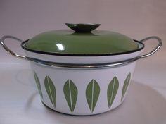 "7 3/4"" Catherineholm lotus pattern - Made in Norway enamelware dutch oven…"