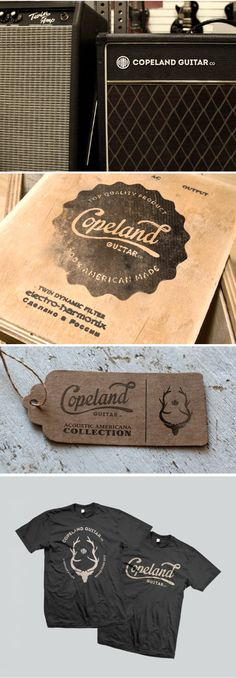 Copeland Guitar Co. by Christopher Reath, via Behance | Design | Branding Design