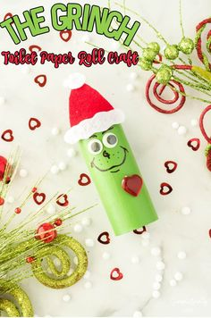 The Grinch Toilet Paper Roll is an easy to make Christmas craft for kids using supplies you likely already have at home. #grinch #grinchtoiletpaperroll #grinchcraft #toiletpaperrollcrafts Easy Arts And Crafts, Diy And Crafts, Christmas Crafts For Kids, Christmas Time, Toilet Paper Roll Crafts, Rainbow Crafts, Fathers Day Crafts, Red Felt, Wedding Tattoos