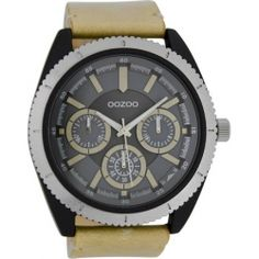 OOZOO Timepieces XXL Brown Leather Strap C6775