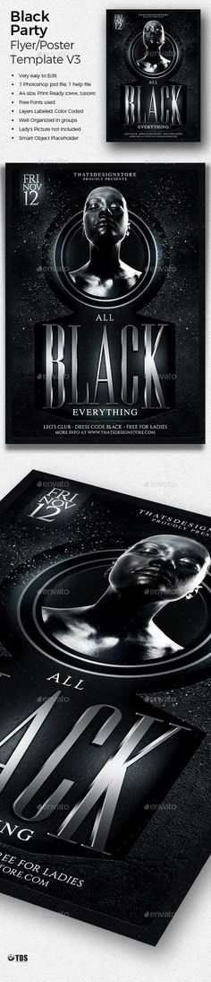 Dj Party Flyer Dj party, Party flyer and Dj - black and white flyer template