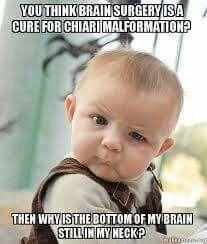 Chiari Fact - Surgery is No Cure  September is Chiari Malformation Awareness Month.  #AwarenessMatters