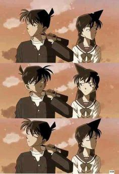 Detective Conan ~ Ran and Shinichi Detective Conan Ran, Detective Conan Shinichi, Ran And Shinichi, Kudo Shinichi, Animation Storyboard, Detective Conan Wallpapers, Kaito Kid, Gosho Aoyama, Pokemon