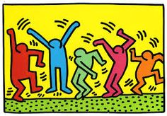 Keith Haring was an American artist know for his graffiti style art. His art was inspired by cartoons and graffiti. Wallpaper Pop Art, Arte Elemental, Keith Haring Art, Street Art, Pop Art Artists, Famous Artists, Dancing Figures, Edvard Munch, Principles Of Art