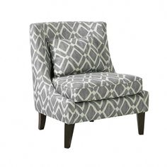Carmina Swoop Grey Accent Chair | American Home #armlesschair #chairs