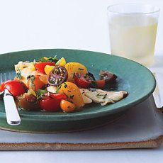 Lemon Balm Recipe: Fish with Curried Cucumber Tomato Water and Tomato Herb Salad