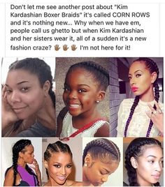 cornrows, black girls, and blacklivesmatter image # boxer Braids aesthetic It already exist uploaded by ShadyUnicorn on We Heart It Black Girls Rock, Black Girl Magic, White Girls, Pray For Venezuela, Black Girl Problems, Boxer Braids, Black History Facts, Black Pride, My Black Is Beautiful