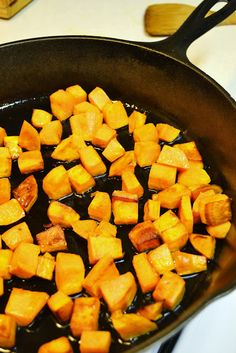 Coconut Oil Skillet Sweet Potatoes