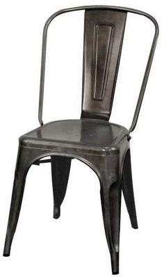 Oxford Metal Chair- Set of 4 GUNMETAL