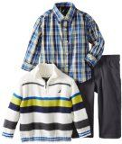 Nautica Baby-Boys Infant Color Block Sweater Set Cotton Machine Wash Sweater, shirt, and pant included Comfortable fit