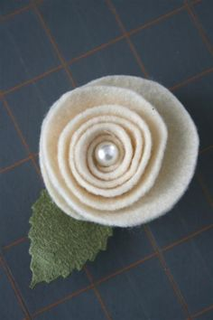 felt rosette finished OMG!!!! These are made the exact same as with paper!!!! Yahoo. Felt Rosette tutorial for wreath:)