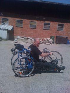 Dirk's Bike (At a Sopur folding wheelchair)