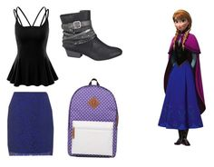 """High school Anna"" by mqweber on Polyvore featuring Topshop, Disney, Doublju, maurices and Mr.ace Homme"