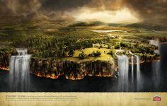 StellaArtois: falling beer ad, print