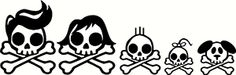 Make your own Skull Family car decals. File comes with 5different characters to choose from. After completing your purchase through PayPal, your download will be available in your purchase histor...