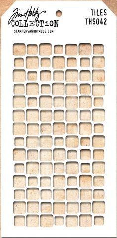 Tim Holtz Stencil THS042 Tiles