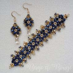 Victorian Earrings and Victorian Bracelet beaded up by Izabela Krzy