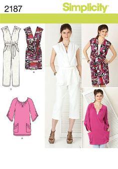 2eb9265854b194 Simplicity Sewing Pattern 2187  Misses  Sportswear